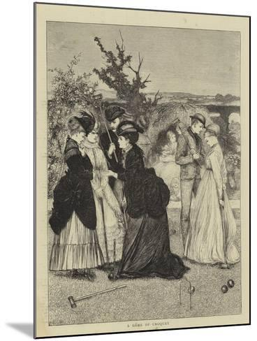 A Game of Croquet--Mounted Giclee Print