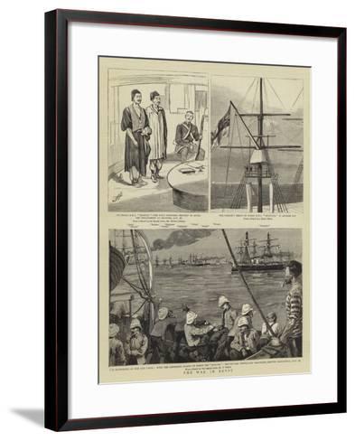The War in Egypt--Framed Art Print