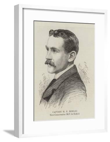 Captain H F Bowles--Framed Art Print