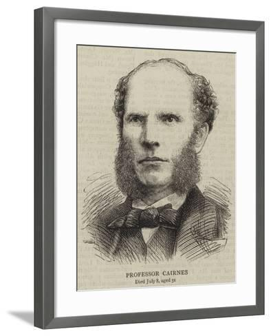 Professor Cairnes--Framed Art Print