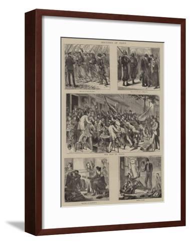 Sketches in Paris--Framed Art Print