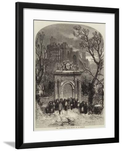The Christmas Dole--Framed Art Print