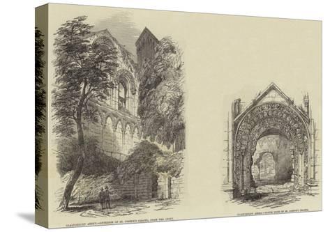 Glastonbury Abbey--Stretched Canvas Print