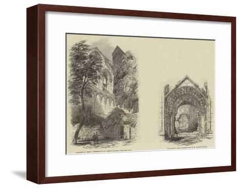 Glastonbury Abbey--Framed Art Print