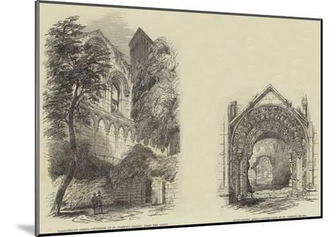 Glastonbury Abbey--Mounted Giclee Print