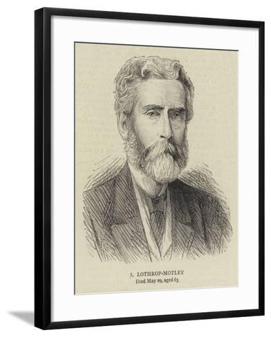 J Lothrop-Motley--Framed Art Print