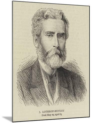 J Lothrop-Motley--Mounted Giclee Print