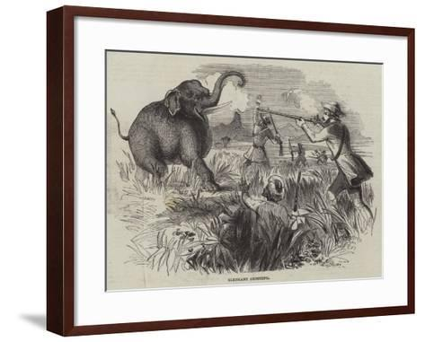 Elephant Shooting--Framed Art Print