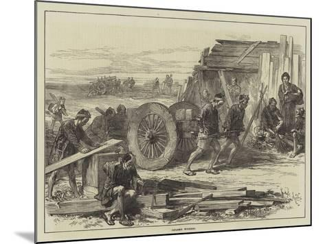 Japanese Workmen--Mounted Giclee Print