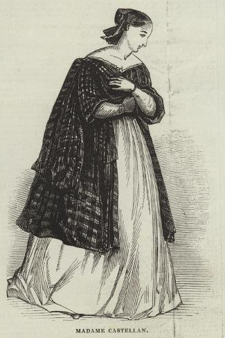 Madame Castellan--Stretched Canvas Print