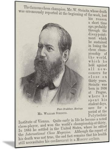 Mr William Steinitz--Mounted Giclee Print