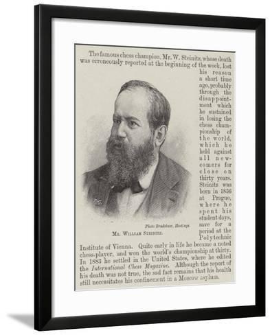 Mr William Steinitz--Framed Art Print