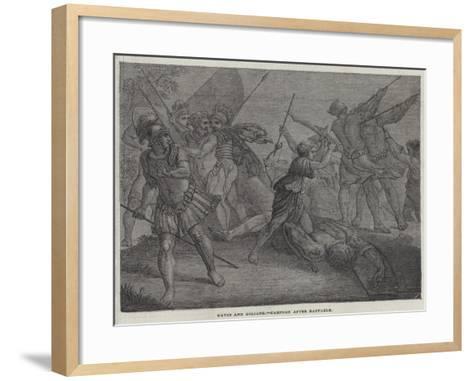 David and Goliath--Framed Art Print