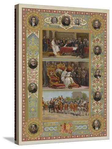 The Queen's Jubilee--Stretched Canvas Print