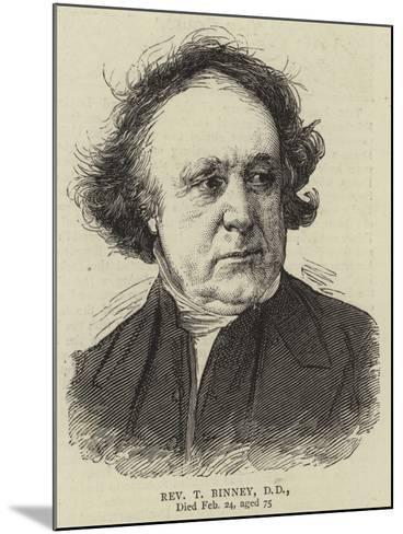 Reverend T Binney--Mounted Giclee Print