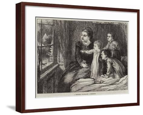 A Christmas Visitor--Framed Art Print