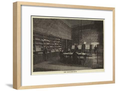 The Newspaper-Room--Framed Art Print