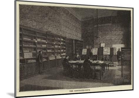 The Newspaper-Room--Mounted Giclee Print