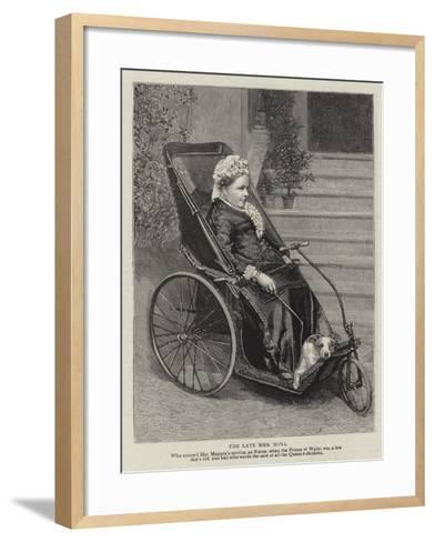 The Late Mrs Hull--Framed Art Print