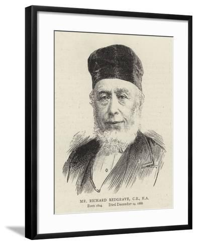 Mr Richard Redgrave--Framed Art Print
