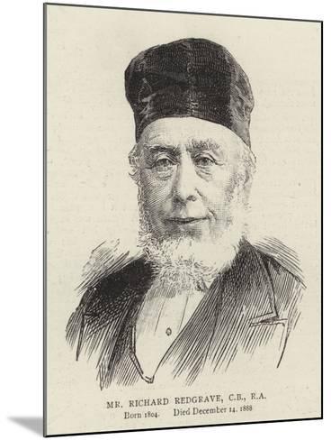 Mr Richard Redgrave--Mounted Giclee Print