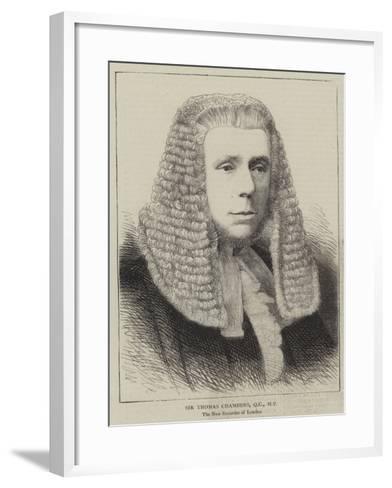 Sir Thomas Chambers--Framed Art Print
