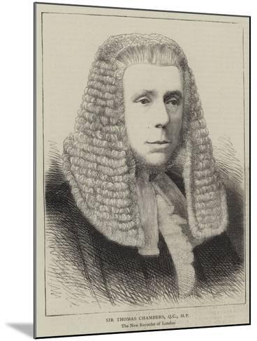 Sir Thomas Chambers--Mounted Giclee Print