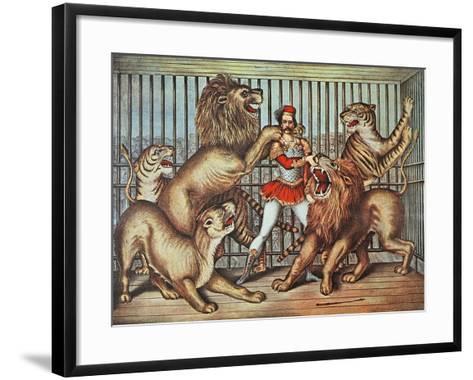 Lion Tamer, C.1880--Framed Art Print