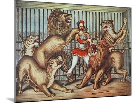 Lion Tamer, C.1880--Mounted Giclee Print