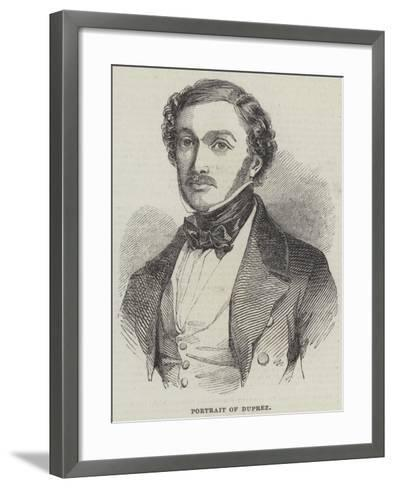 Portrait of Duprez--Framed Art Print