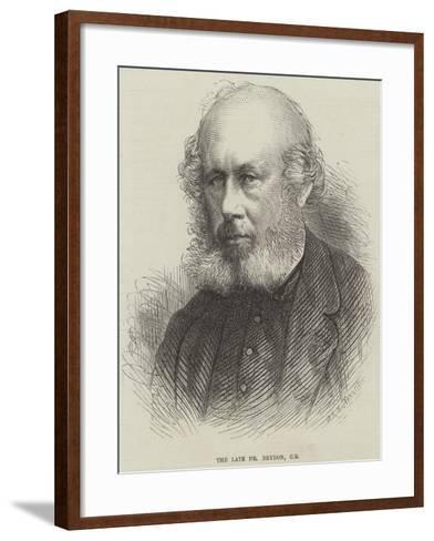The Late Dr Brydon--Framed Art Print