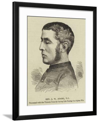 Reverend J W Adams--Framed Art Print