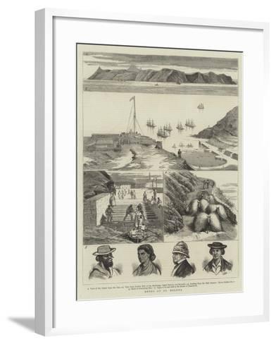 Notes at St Helena--Framed Art Print