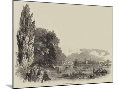 The Thames Regatta--Mounted Giclee Print