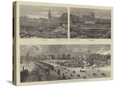 Sketches in London--Stretched Canvas Print