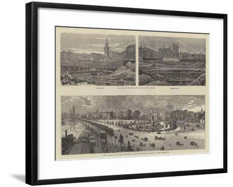 Sketches in London--Framed Art Print