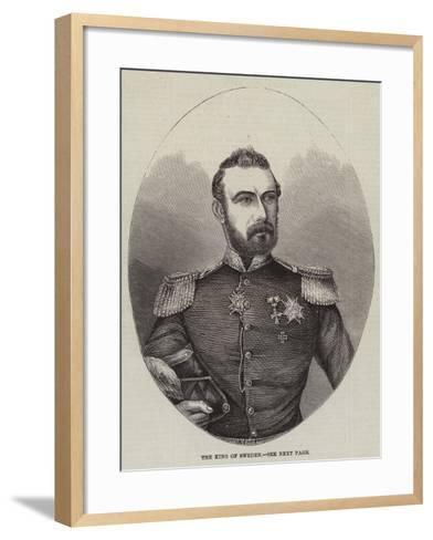 The King of Sweden--Framed Art Print
