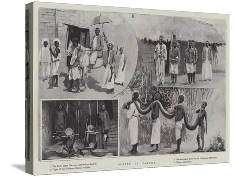 Scenes in Uganda--Stretched Canvas Print
