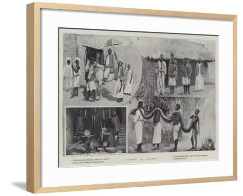 Scenes in Uganda--Framed Art Print