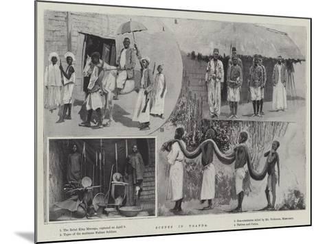 Scenes in Uganda--Mounted Giclee Print