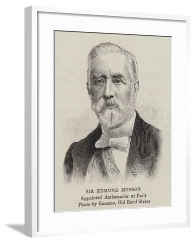 Sir Edmund Monson--Framed Art Print