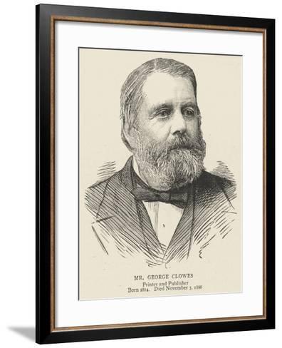 Mr George Clowes--Framed Art Print