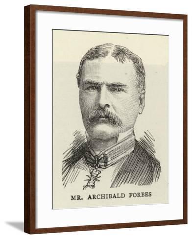 Mr Archibald Forbes--Framed Art Print