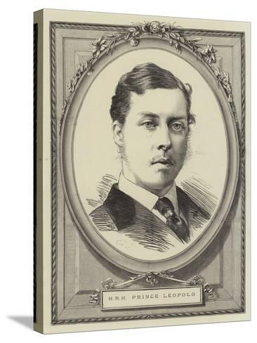 Hrh Prince Leopold--Stretched Canvas Print
