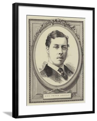 Hrh Prince Leopold--Framed Art Print