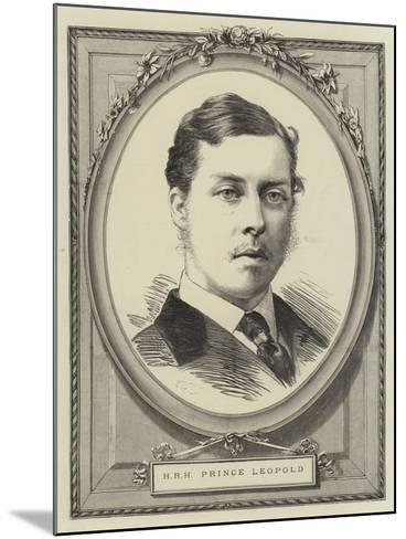 Hrh Prince Leopold--Mounted Giclee Print