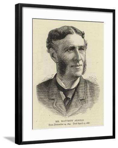 Mr Matthew Arnold--Framed Art Print
