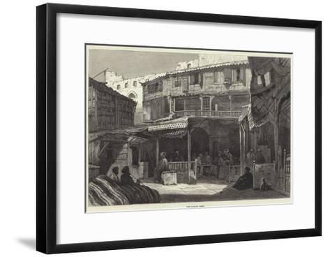 The Bazaar, Cairo--Framed Art Print