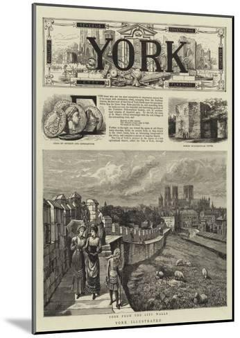 York Illustrated--Mounted Giclee Print