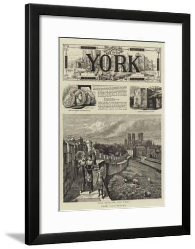 York Illustrated--Framed Art Print